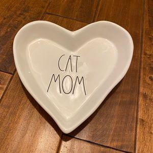🙀Rae Dunn CAT MOM Large Heart Trinket Dish/Tray